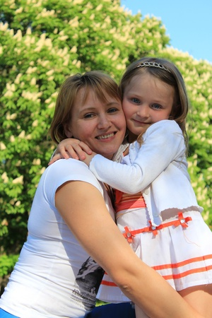 image of mother and daughter hugging one another Stock Photo - 19638334