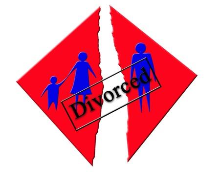 distressing: illustration symbolizing divorce in family