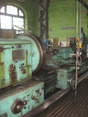 old machine tool at a repair factory Stock Photo - 19869388