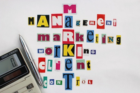 image of the main components of market and business Stock Photo - 20762722