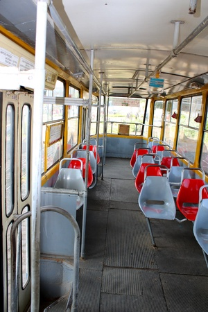 tramway: the image of view inside of tramway