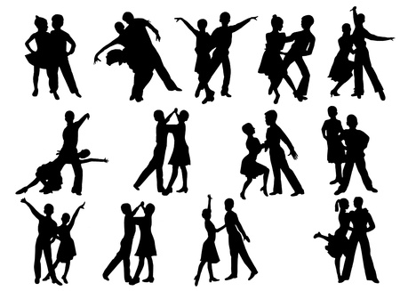 image of dancing people in different poses photo