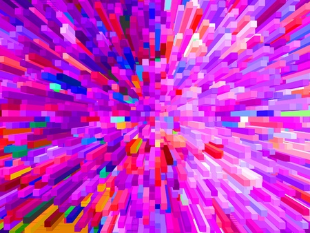 the multi-coloured explosion is very bright Stock Photo - 22036731