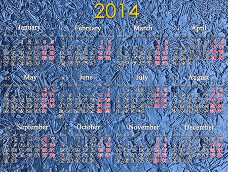 calendar for 2014 year on the luxurious blue background Stock Photo - 22344510