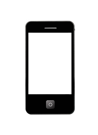 image of modern and mobile black phone photo