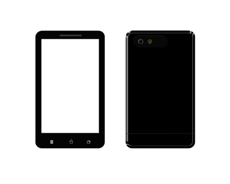 illustration of modern mobile phone isolated on the white  illustration
