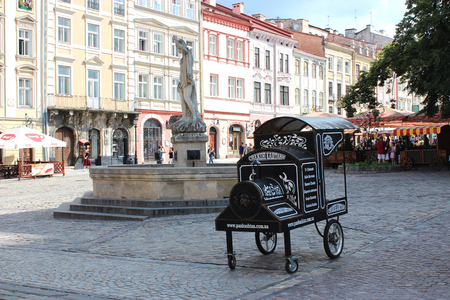great architectural ensembles in the central patr of Lvov city Banco de Imagens - 24675604