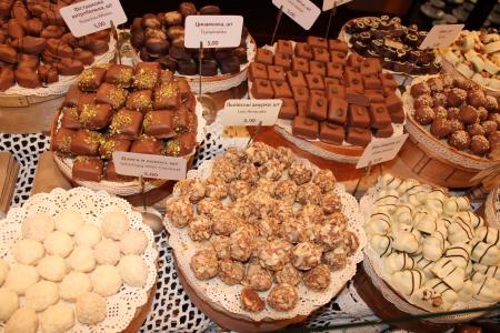 chocolatería: confitería diferente y delicioso en el escaparate