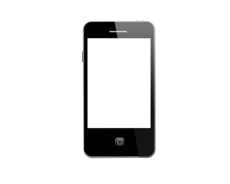 illustration of modern mobile phone isolated on the white background illustration