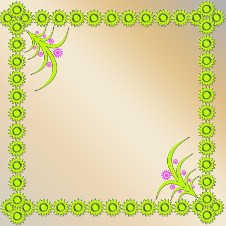 flicker: frame  from light-green figures in the corner with plant