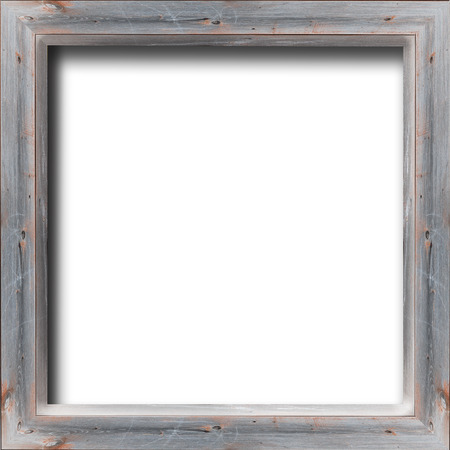 baguet: nice wooden frame isolated on the white background Stock Photo