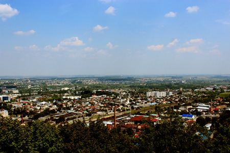 beautiful view to the house-tops in Lvov city