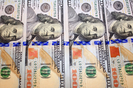 equivalent: cash in new hundred dollar bank notes