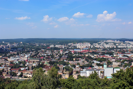 lvov: beautiful view to the house-tops in Lvov city