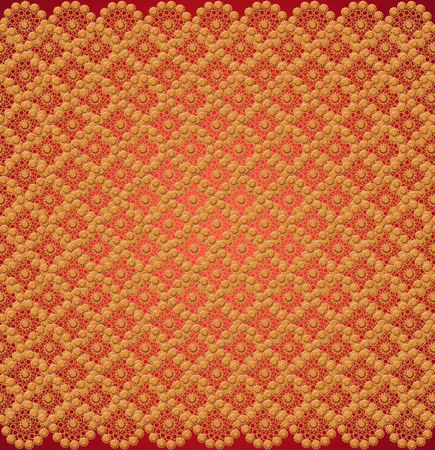 wallpapers with many golden abstract patterns on the red