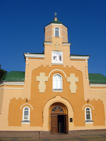 restored: old restored beautiful Sretenska church in Priluky Stock Photo