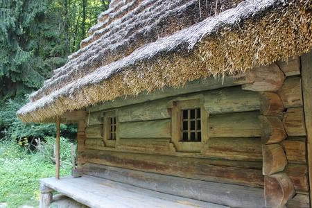 old rural house in Carpathian region in Ukraine