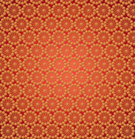 wallpapers with many yellow abstract patterns on the red