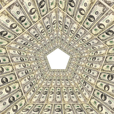 bank notes: dollar pattern with abstract background from 20 and 100 bank notes Stock Photo