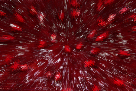 Red abstract texture with bright spots and