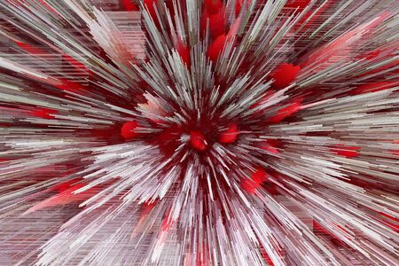 obscurity: Red and white bright abstraction like explosion