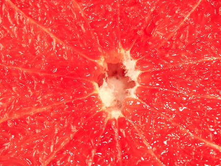 sappy: background from the cut fruit of grapefruit Stock Photo