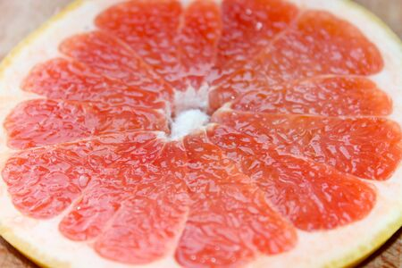 pappy: grapefruit bright red and cut by segments