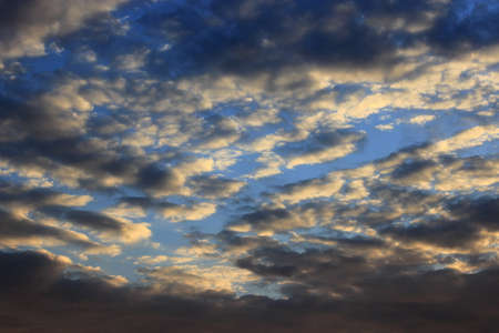 the decline: beautiful summer decline with dark sky and sun Stock Photo