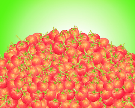 heap: big heap of red and ripe tomatoes
