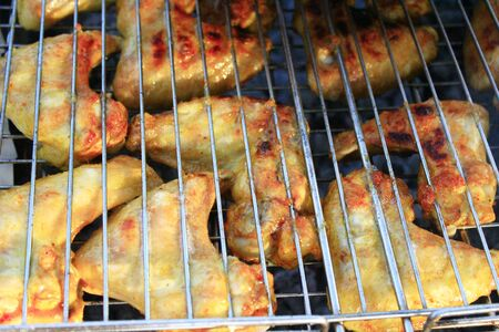 appetizing: appetizing barbecue from chicken s meat cooked on the fire Stockfoto
