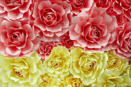 papiermache: beautiful flowers of roses made from paper