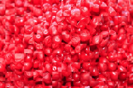 od: texture from red cut pieces od schizandra Stock Photo