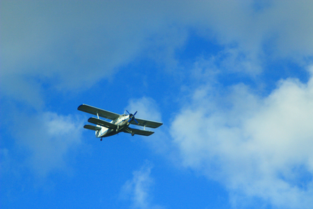 mosca: plane Antonov An-2 flying in the air