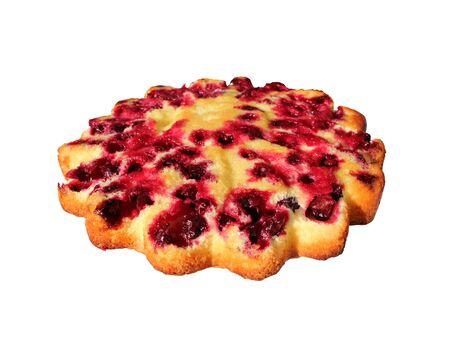 cherry pie: fresh cherry pie isolated on the white background