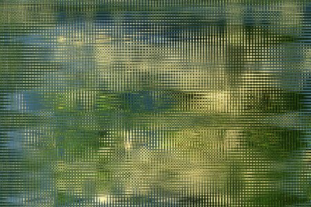 reflaction: green abstract pattern with greenish stripes Stock Photo