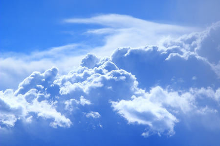 fluffy clouds: beautiful fluffy white clouds on blue sky