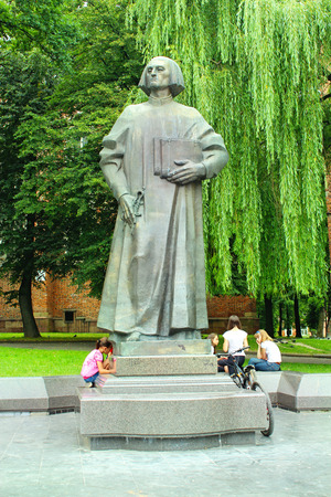 the publisher: Yuriy Drohobych monument the first publisher of a Ukrainian printed text  in Drohobych town