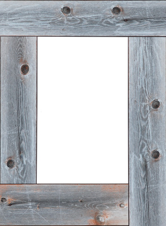 baguet: wooden frame with empty white place for text