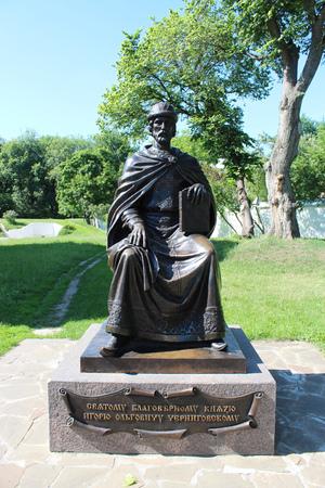 slavic: Monument to ancient Slavic prince Igor in Chernihiv in Ukraine