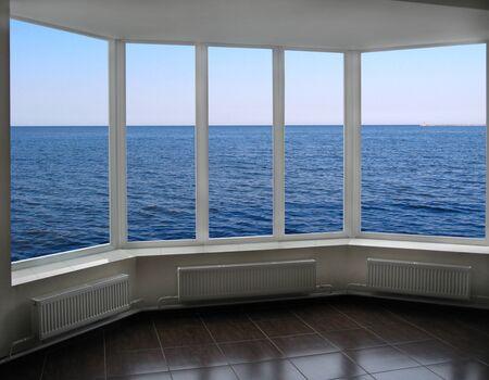 ocean waves: window with beautiful view of ocean waves