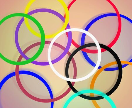 motley: bright and motley abstract rings on the brown background
