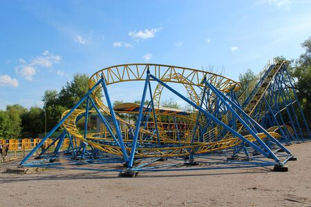 somersault: small attraction small roller-coaster in Chernihiv town