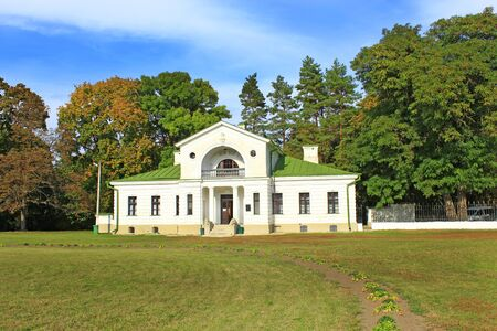 comfortable building of hotel in historical estate in Kachanivka