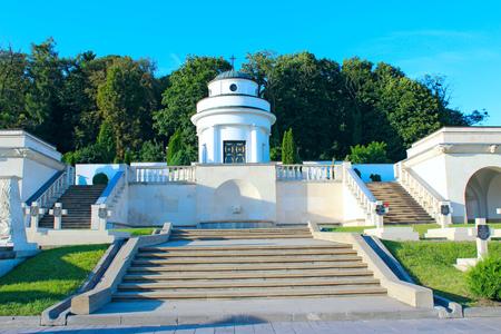 graves of the Polish warriors on Lychakiv Cemetery in Lviv Ukraine