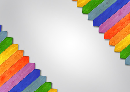Multicolored wooden pattern with white empty centre