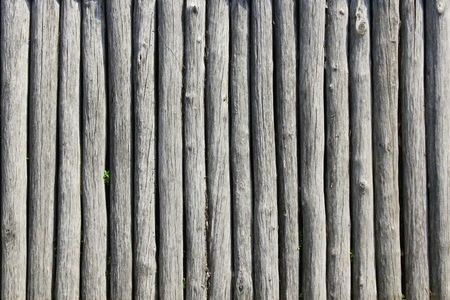 texture from big old grey and wooden logs Stock Photo