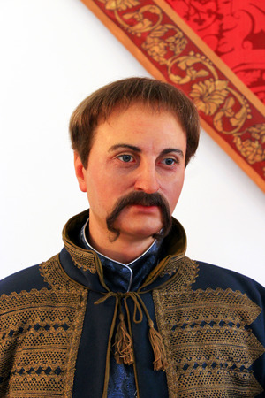 wax figure of Pylyp Orlyk Ukrainian hetman in museum of Baturyn Editöryel