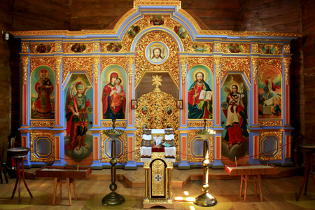 inside Voskresenska church in Baturin in Ukraine Editorial