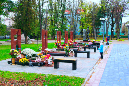 The graves of the heroes of the Heavenly Hundred and the soldiers of the victims during the antiterrorist operation on the Donbass in Ivano-Frankivsk