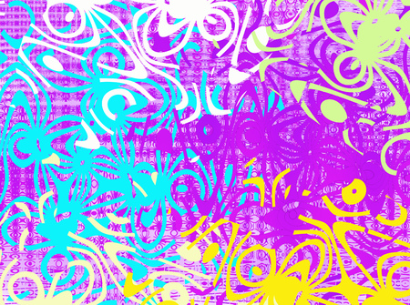 Texture with color abstractions. Creative abstract patterned background. Abstract pattern with different figures. Multicolored illustration